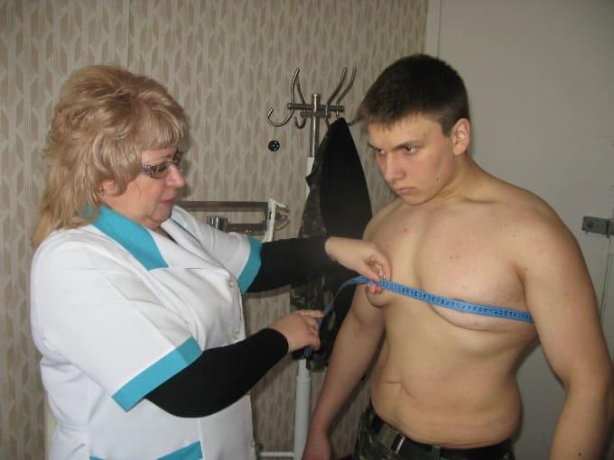 Масса тела для службы в армии